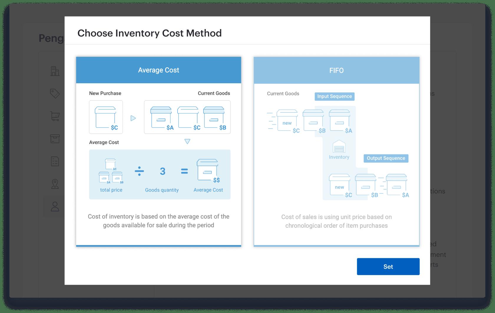 Efficient inventory process