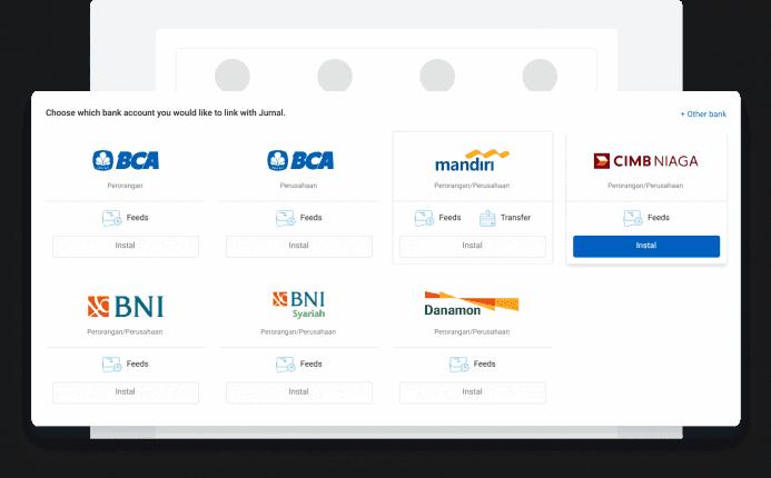 Link Jurnal to Banks