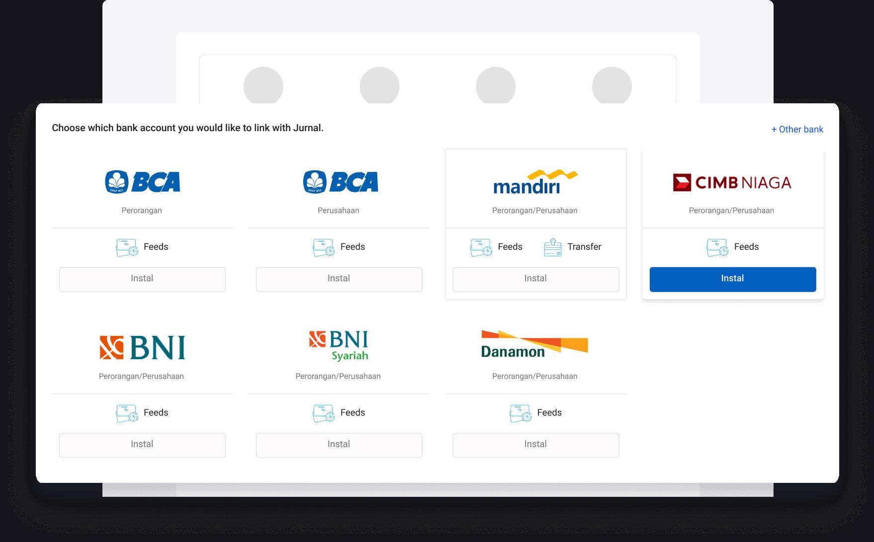 Hubungkan Akun Jurnal dengan Bank